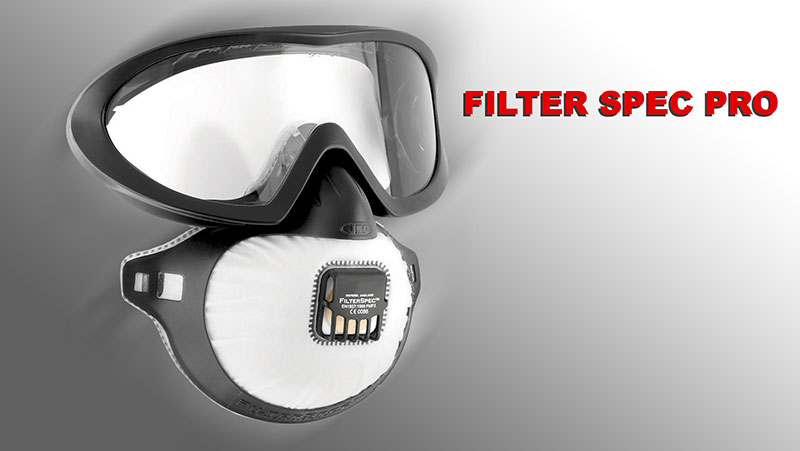 Casco per sabbiatrice con filtro