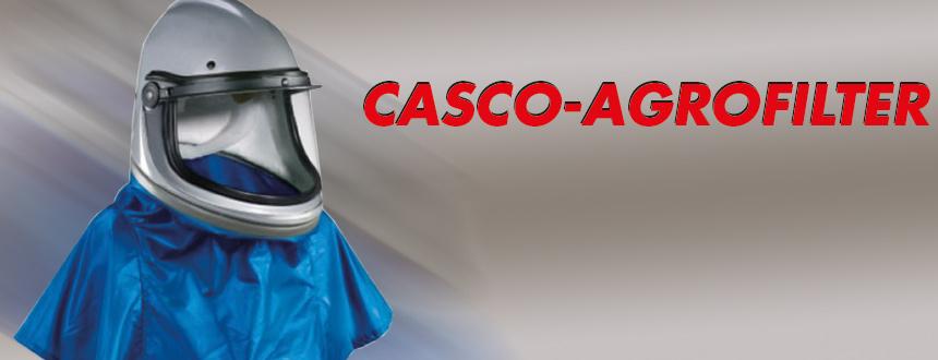 Casco Agrofilter a batteria per sabbiatura