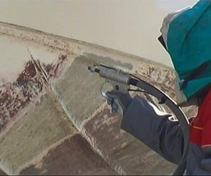 Verwijdering van gelcoat
